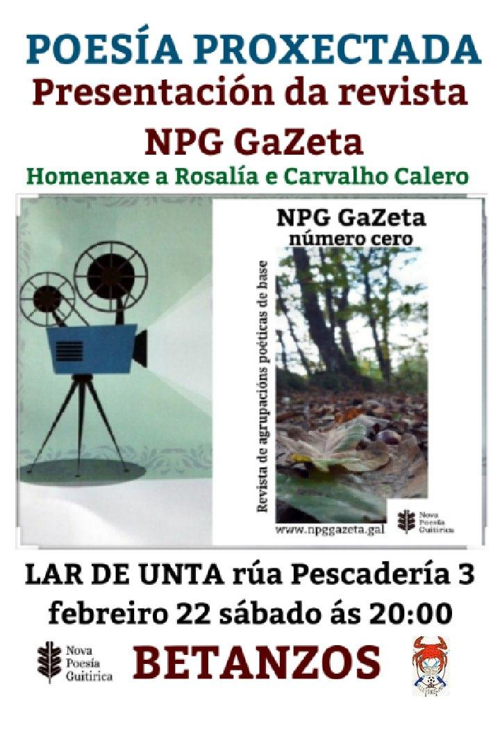 Presentación Revista NPG GaZeta día 22-02-2020