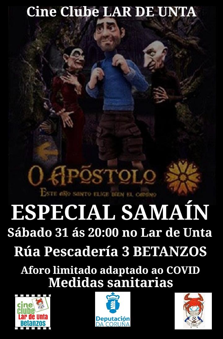 SAMAIN 2020: PROXECIÓN FILM O APÓSTOLO Sábado 31/10/2020 ás 20.00 h.
