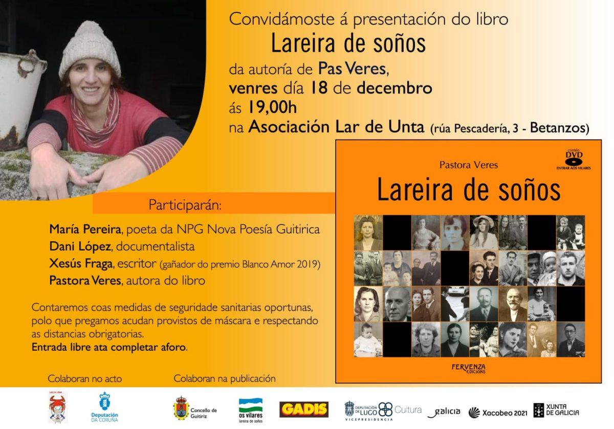 """A socia Pastora Veres presenta o seu libro """"Lareira de Soños"""""""
