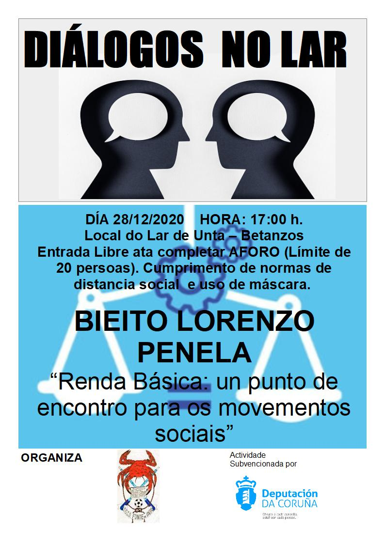 Diálogos no Lar:  Bieito Lorenzo e a Renda Básica