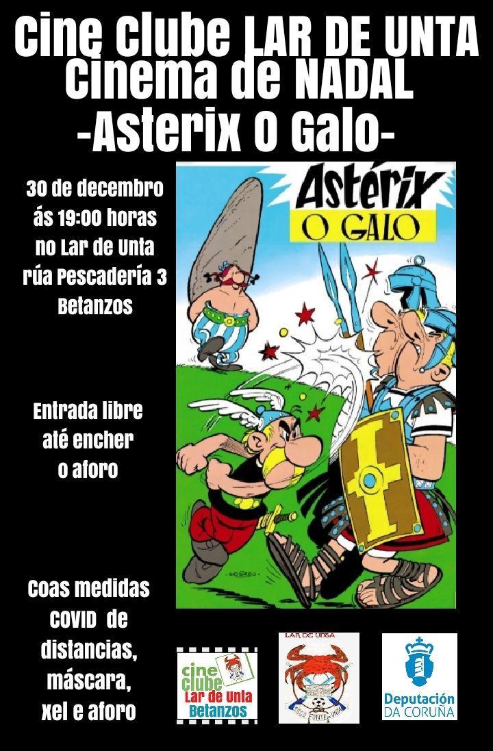 """CINECLUBE LAR DE UNTA: """"Asterix o Galo"""""""