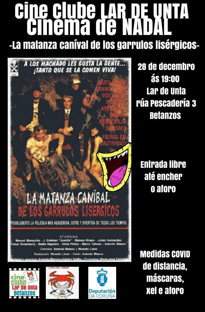 """CINECLUBE LAR DE UNTA: """"La matanza caníval de los garrulos lisérgicos"""""""