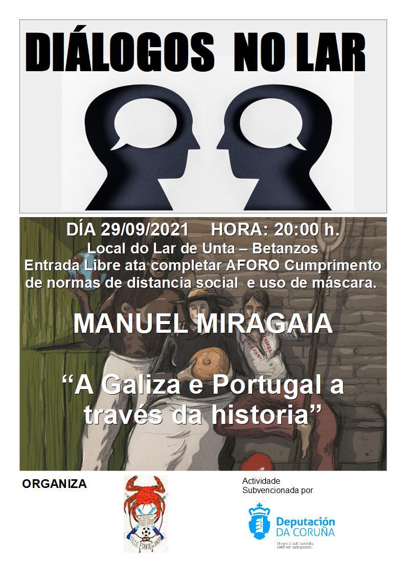 Dialogos no Lar con Manuel Miragaia e a relación entre Galiza e Portugal